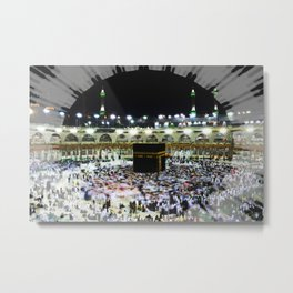 Hajj - Kaaba Stone - Muslim - the ancient sacred stone building towards which Muslims pray Metal Print
