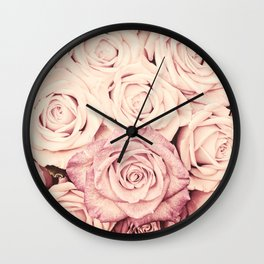 Some people grumble Floral rose roses flowers garden pink Wall Clock