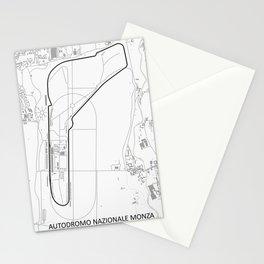 Autodromo Nazionale Monza Circuit Map Stationery Cards