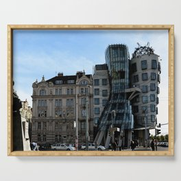 The Dancing House in Prague by Frank Grehry Serving Tray