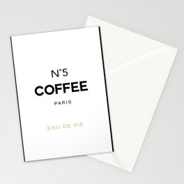 Number 5 Coffee In Paris, Eau De Vie, Water Of Life Quote, Cafe Label Quotes, Large Printable Photo Stationery Cards