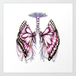 Pink Butterfly Lungs Art Print
