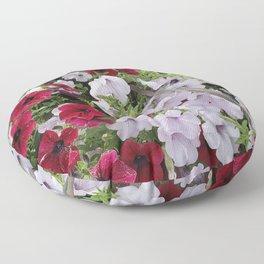 Cascade Of Petunias Floor Pillow