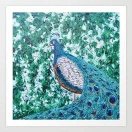 Peacock Forest Art Print
