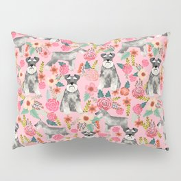 Schnauzer floral dog breed must have gifts for schnauzers Kissenbezug