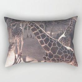Giraffe Strut // Spotted Long Neck Graceful Creatures in Wildlife Preserve Rectangular Pillow