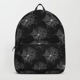 Black Spider Webs Backpack