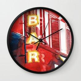 Bar in Rome Wall Clock