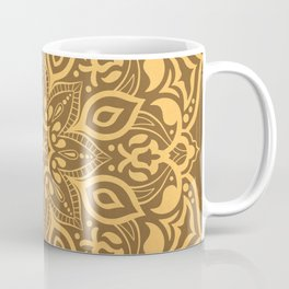 Elegant golden ochre mandala - tone on tone Coffee Mug