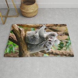 Koala mom and child Rug
