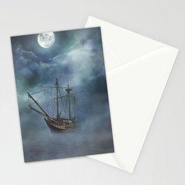 Foggy Night Sail Stationery Cards