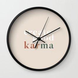 Good Karma Wall Clock