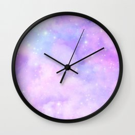 Pastel Cloulds Sky Seamless Nebula 75 Wall Clock
