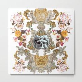 Gothic Skull Metal Print