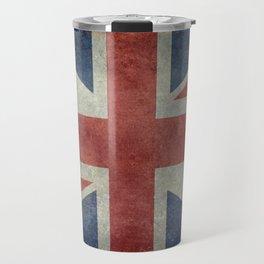 UK Flag in Dark grunge Travel Mug