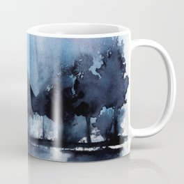 Blue Tree Reflections Coffee Mug