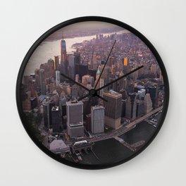 New York Skyline - I love NYC (Manhattan) Wall Clock