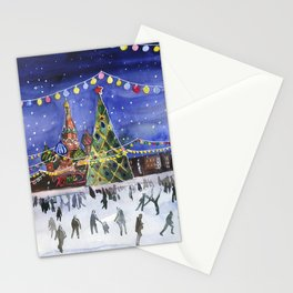Red square. Winter Moscow Stationery Cards