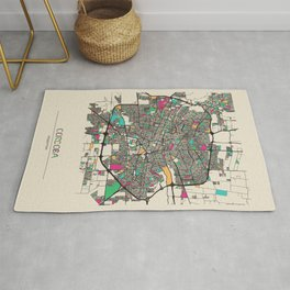 Colorful City Maps: Cordoba, Argentina Rug