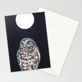 Owl's Full Moon Stationery Cards