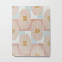 Patchy Octagon Tiles Metal Print
