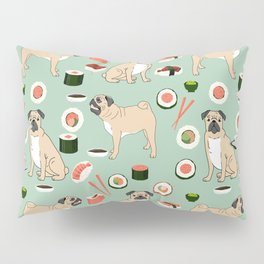 Pug sushi pattern dog breed cute pet art pet friendly gifts pugs Pillow Sham