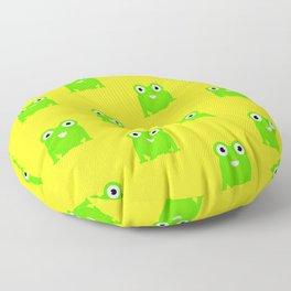 Little green toad pattern design Floor Pillow