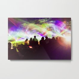 Laser show crowd Metal Print
