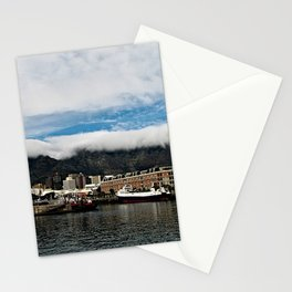 Table Mountain Cape Town Harbor, South Africa Stationery Cards