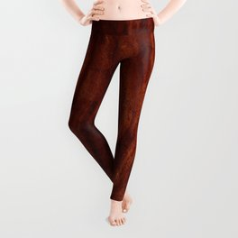 Beautiful Unique mahogany red wood veneer design Leggings