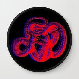 Snek 2 Snake Red Blue Wall Clock