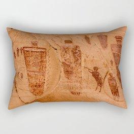 Horseshoe Canyon Great Gallery Group 2 Pictographs Rectangular Pillow
