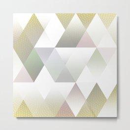 Silver Triangels N.1 Metal Print