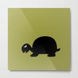 Angry Animals: Tortoise Metal Print