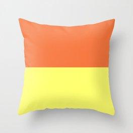 Peach Orange & Custard Throw Pillow