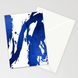 Abstract Indigo Blue Brushstrokes Stationery Cards