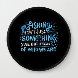 Fishing Angler Gift Wall Clock
