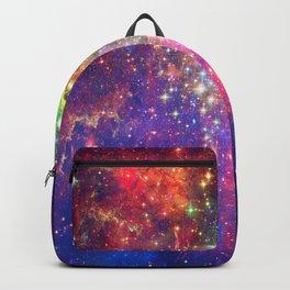 Rainbow Stargazing Galaxy Space Interstellar Dust Constellation Backpack