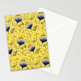 wild poppy botanical illuminating yellow Stationery Cards