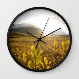 Brooks Range Sunset Wall Clock