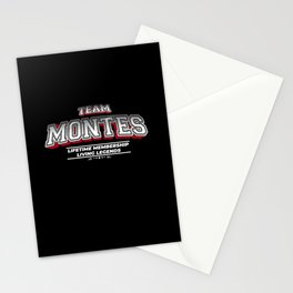 Team MONTES Family Surname Last Name Member Stationery Cards