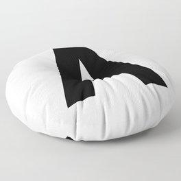 Letter A (Black & White) Floor Pillow