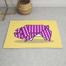 Origami Pig Rug