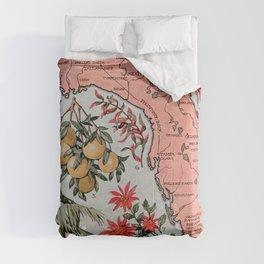 Vintage Map of Florida (1917) Comforters