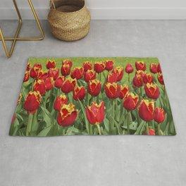 Red tulips I Bright colors I Keukenhof, Holland I Spring I Photography Rug