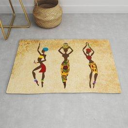 Dancing african women  Rug