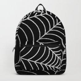 Spiderweb   Silver Glitter Backpack