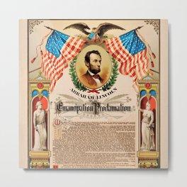 1863 Emancipation Proclamation by President Abraham Lincoln Metal Print