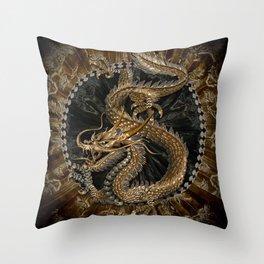 Dragon Pentagram Throw Pillow