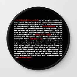 house music- In the beginning the was jack - house music Wall Clock